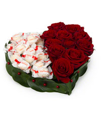 "Bouquet from цветов ""Wonderful Heart "" with delivery in Novosibirsk 25 - 10 см."