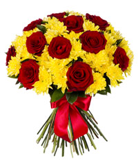 "Bouquet from цветов ""Rubies in Amber"" with delivery in Rostov-on-Don 35 - 35 см."
