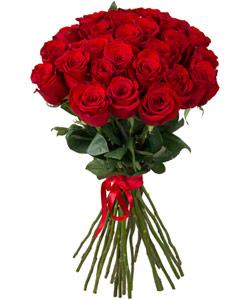 """Букет из цветов """"Букет из 25 красных роз"""" 30 - 60 см."""